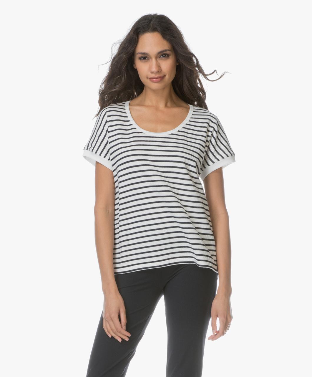 Petit bateau striped t shirt marshmallow smoking 28036 for Petit bateau striped shirt