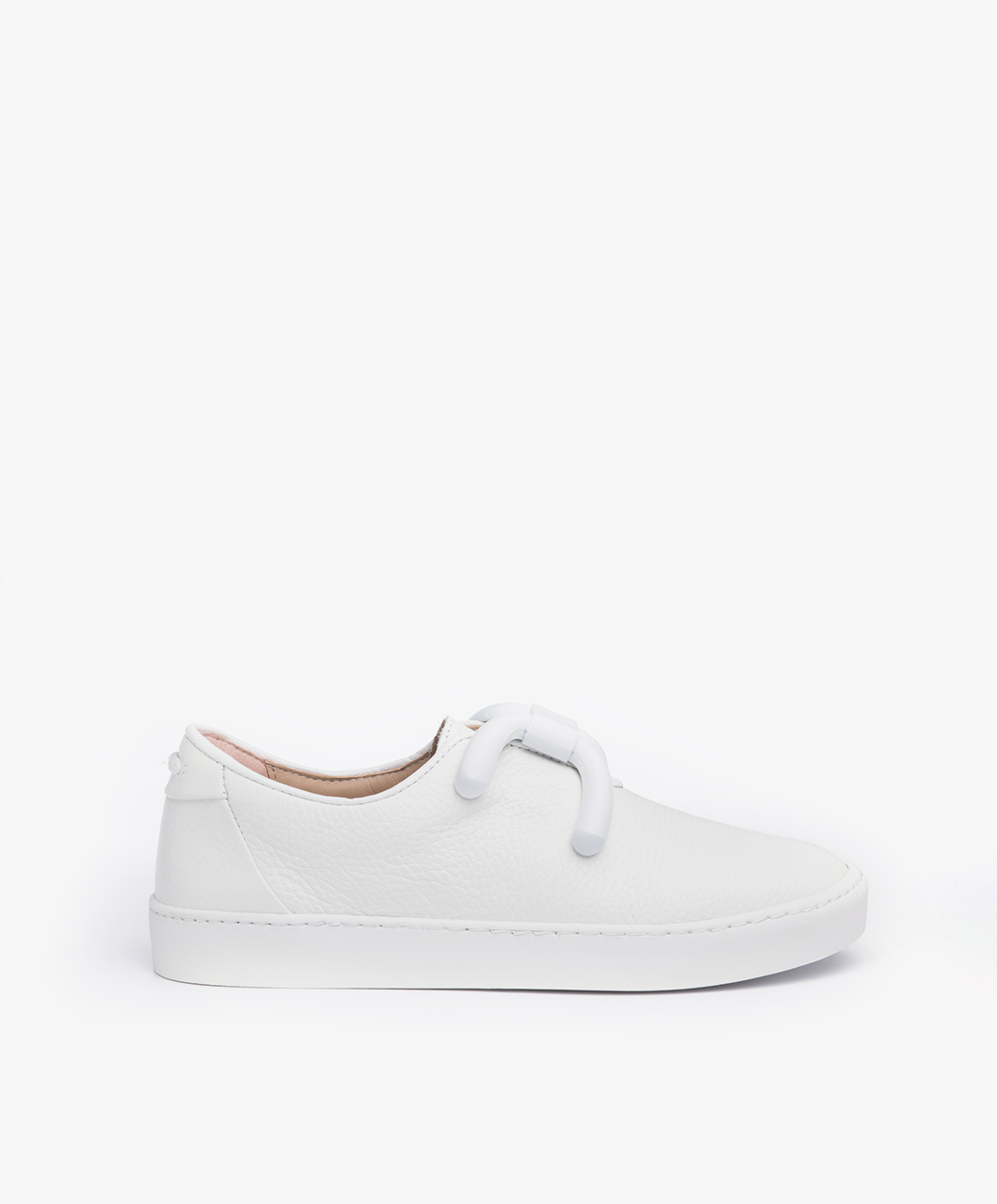 Immagine di An Hour And A Shower Sneakers Livia Low in White Leather