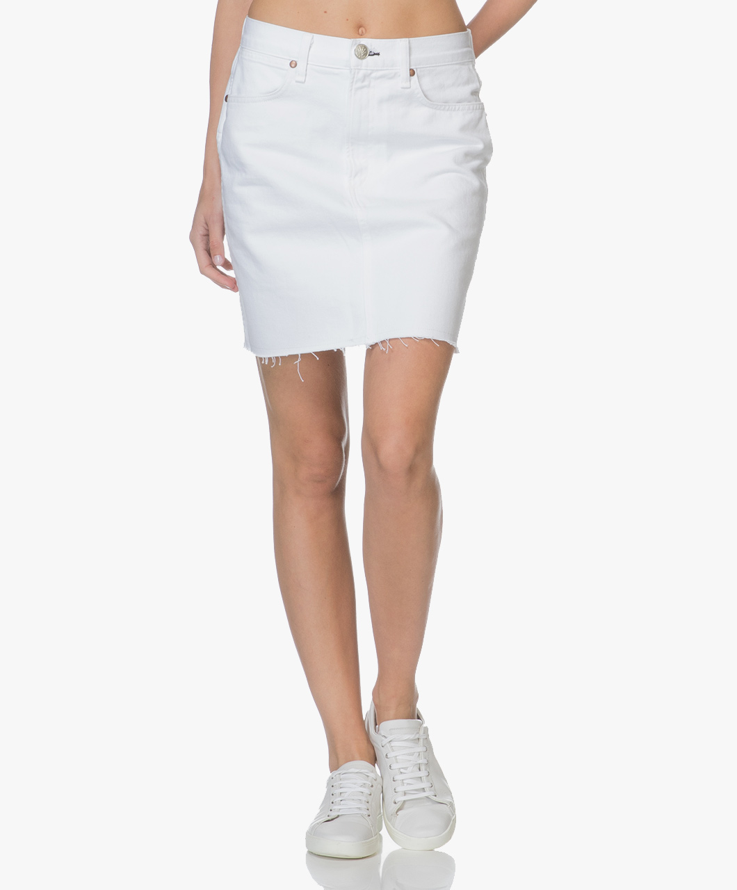 6ba204fb7d Rag & Bone / Jean Moss Denim Skirt - White - moss | w1b15o628wht