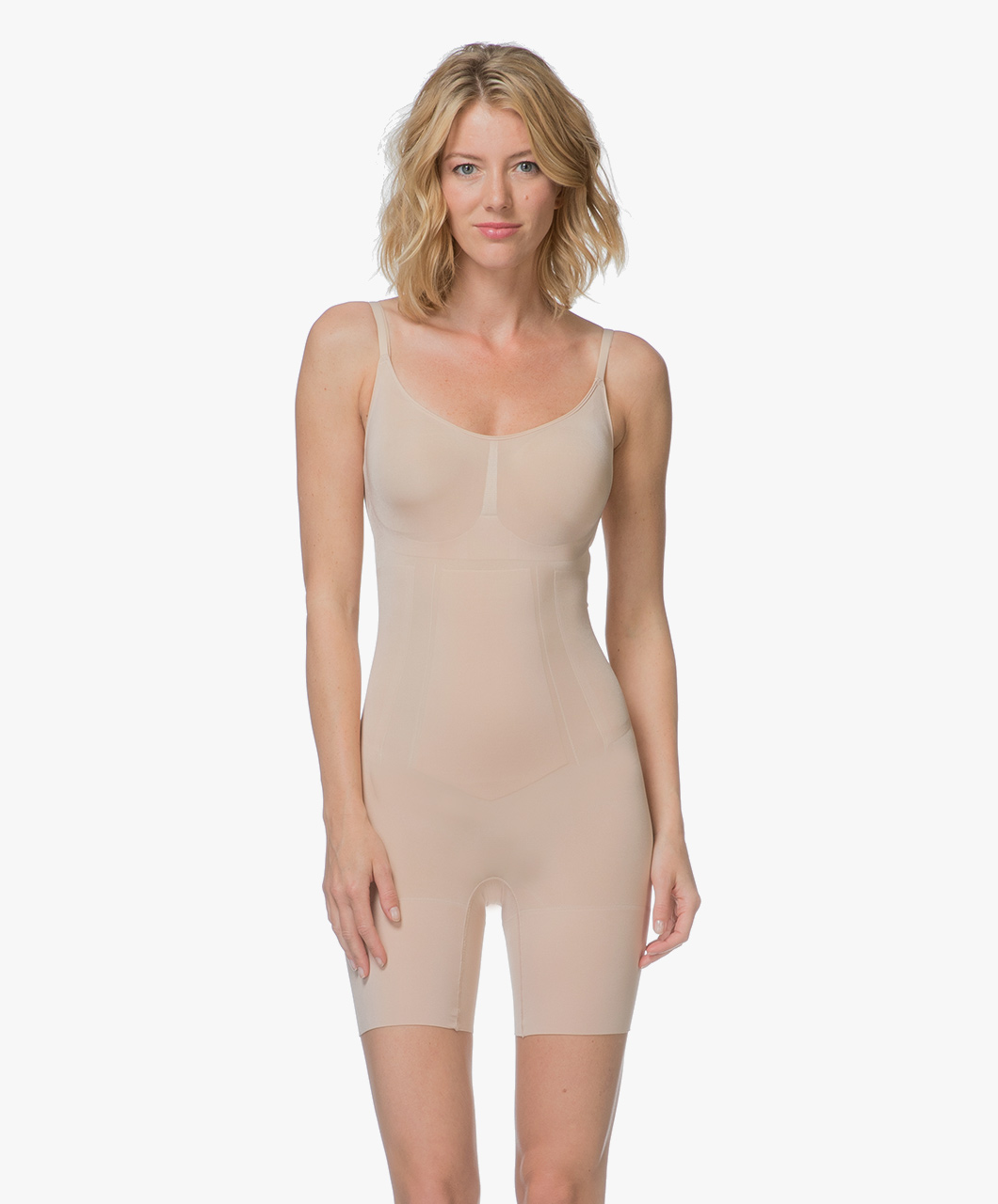 8412e1645eb1d SPANX® OnCore Mid-Thigh Bodysuit - Soft Nude - Spanx Shapewear