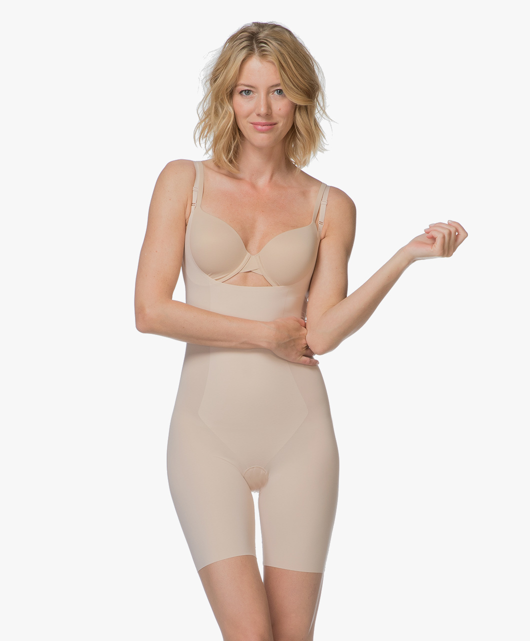 83a3e5f8808d1 SPANX® Thinstincts Open-Bust Bodysuit - Soft Nude - Spanx Shapewear