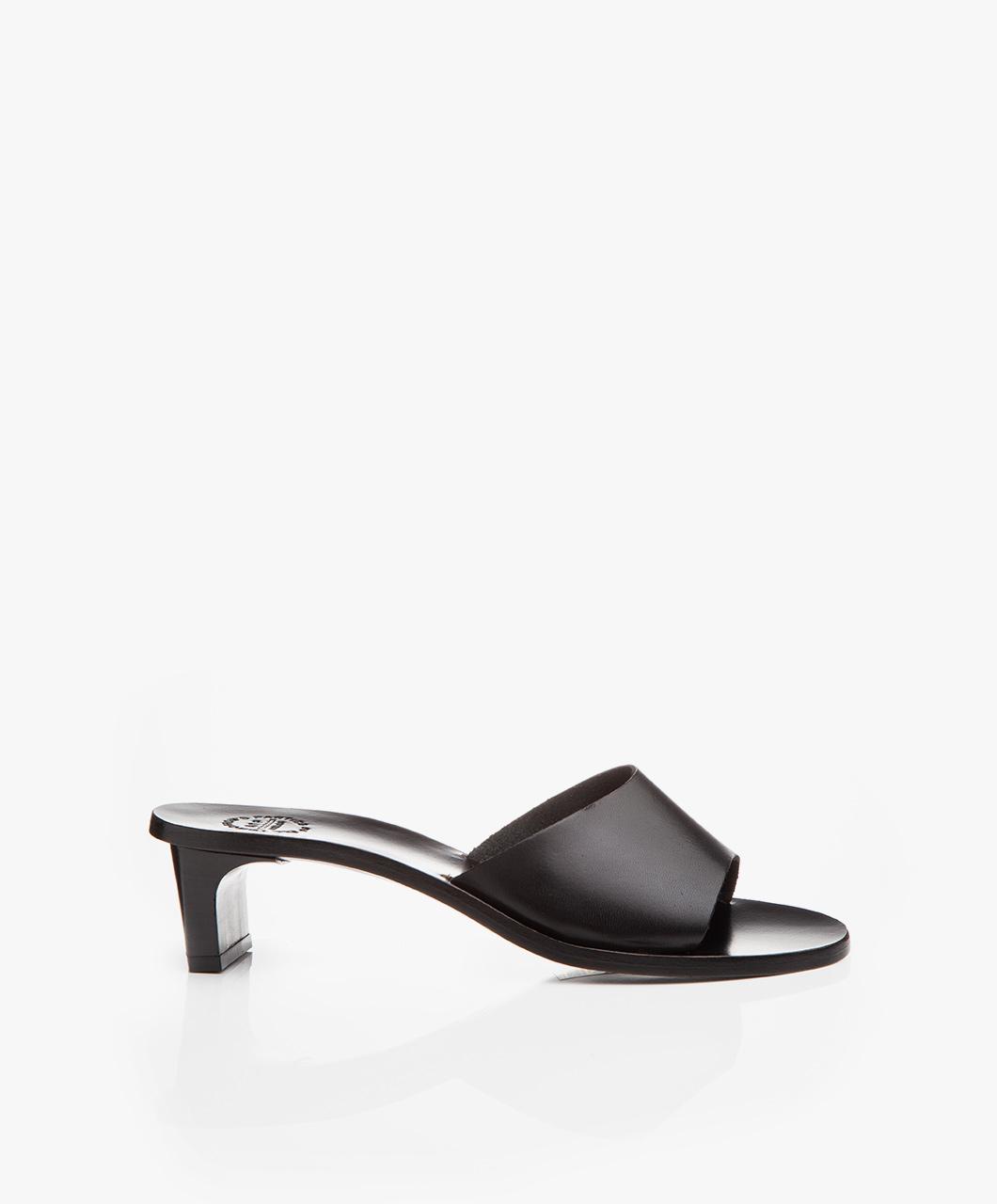 Immagine di ATP Atelier Mules Black Peonia Vachetta Leather