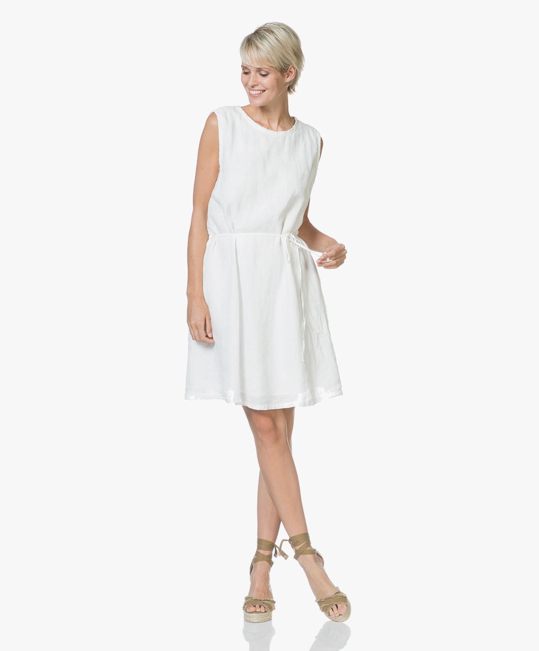 Immagine di American Vintage Dress White Ficobay Sleeveless Linen