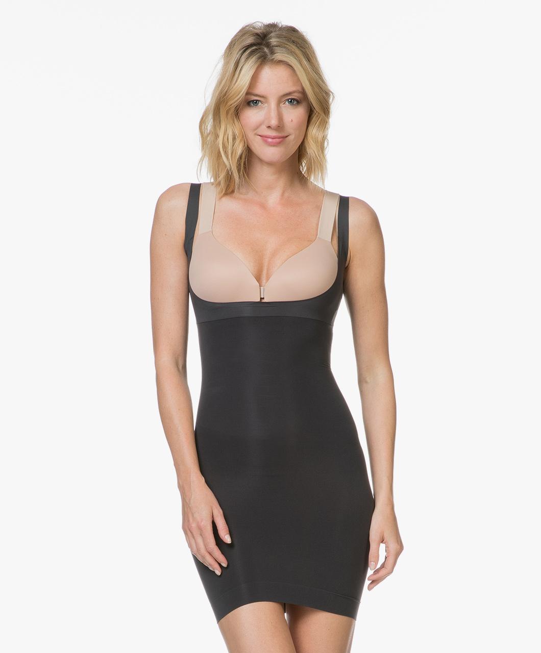 ca3a671f12a79 SPANX® Shape My Day Open-Bust Slip - Black - Spanx Shapewear