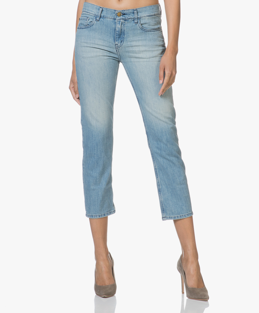 Afbeelding van Ba&sh Jeans Light Used Romy Cropped