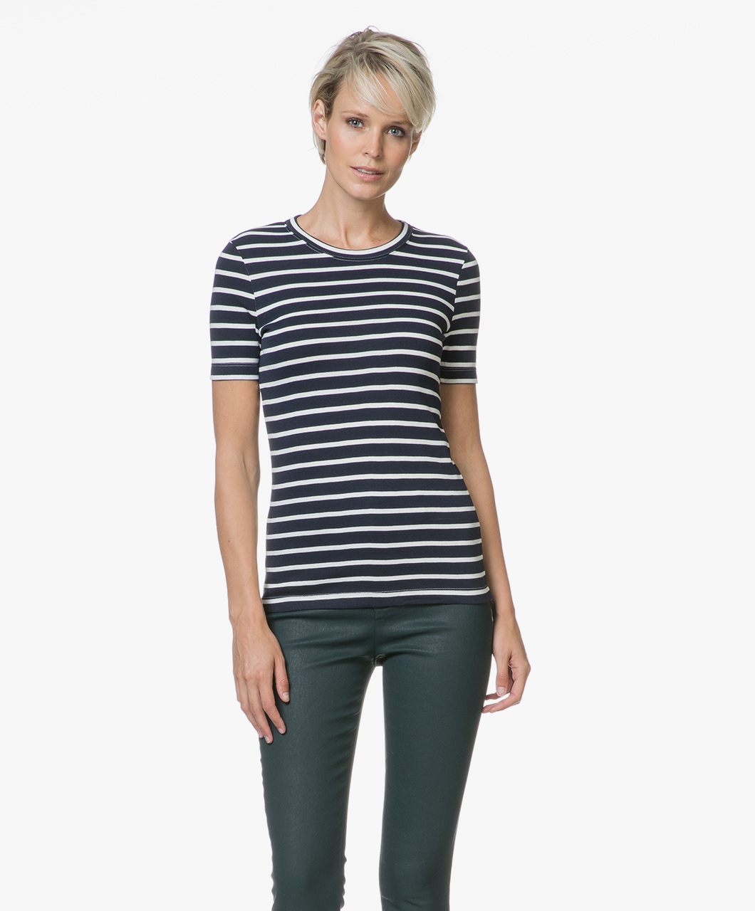 Bateau Women T Striped Shirt Petit Smokingmarshmallow qSF6Hn