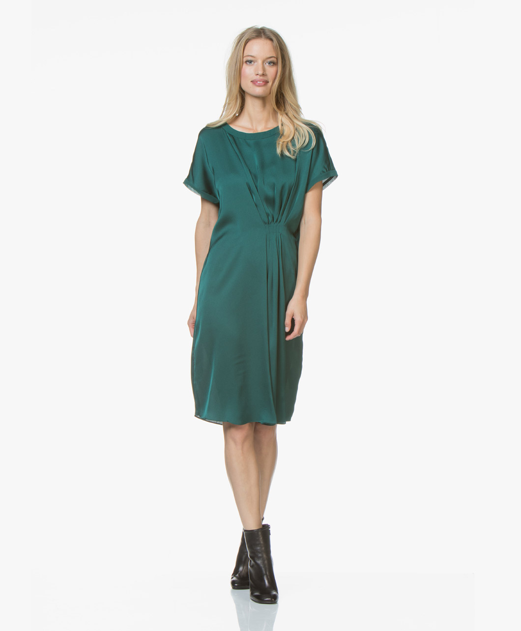 By Malene Birger Linana Satin Dress Botanical Garden Q62305024 4y3