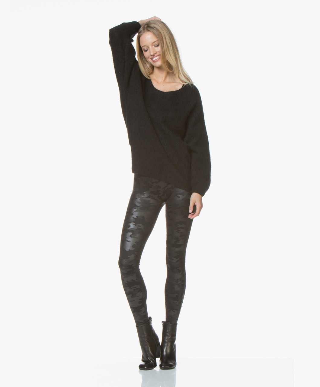 457f337ef5da1 SPANX® Faux Leather Camo Leggings - Matte Black - spx 20185r 9986 - matte  camo