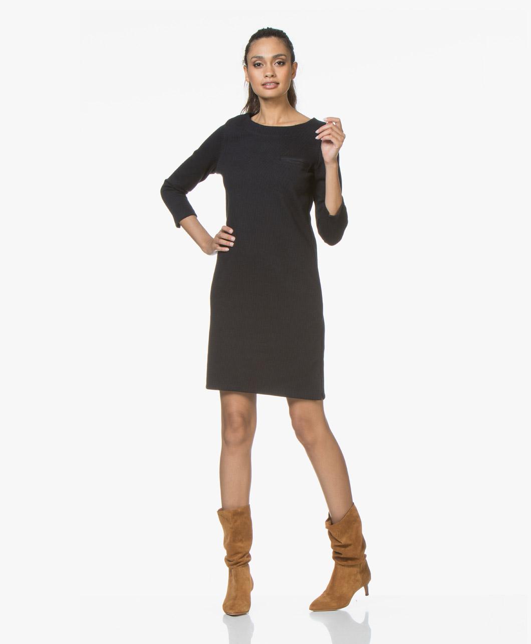 7e8c2d053aa3d8 BY-BAR Noor Striped Jersey Dress - Navy Black - 18417024 600
