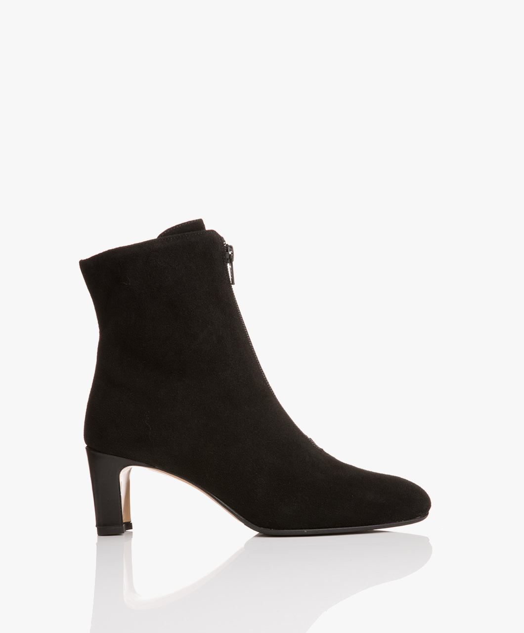 Immagine di ATP Atelier Ankle Boots Black Suede Arnica Zip Ankle