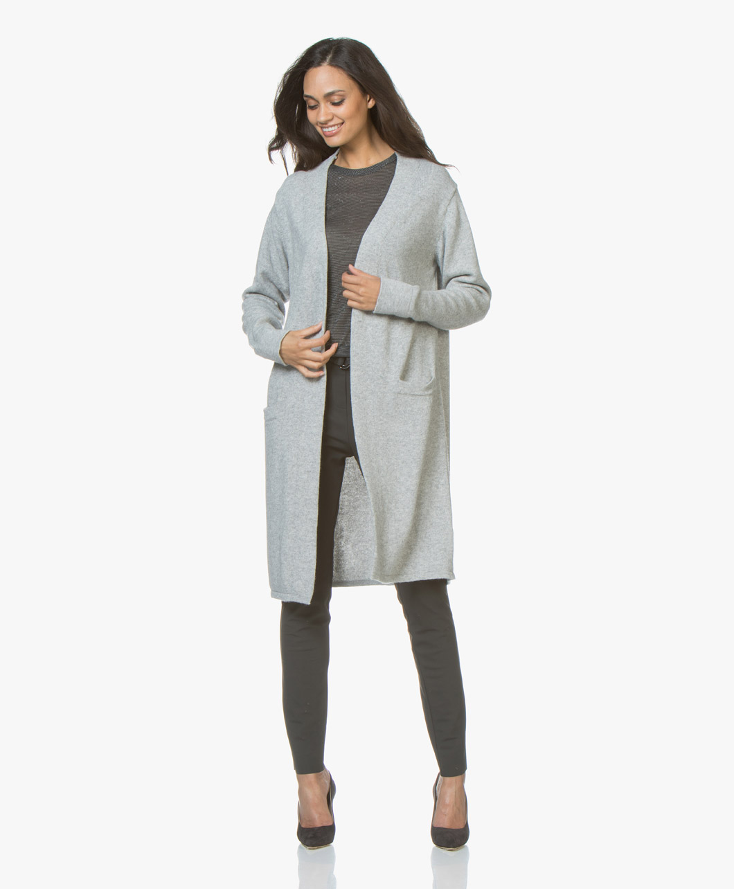 f02f8ebe4af Resort Finest Maxime Long Open Cardigan - Grey - 6184 maxime