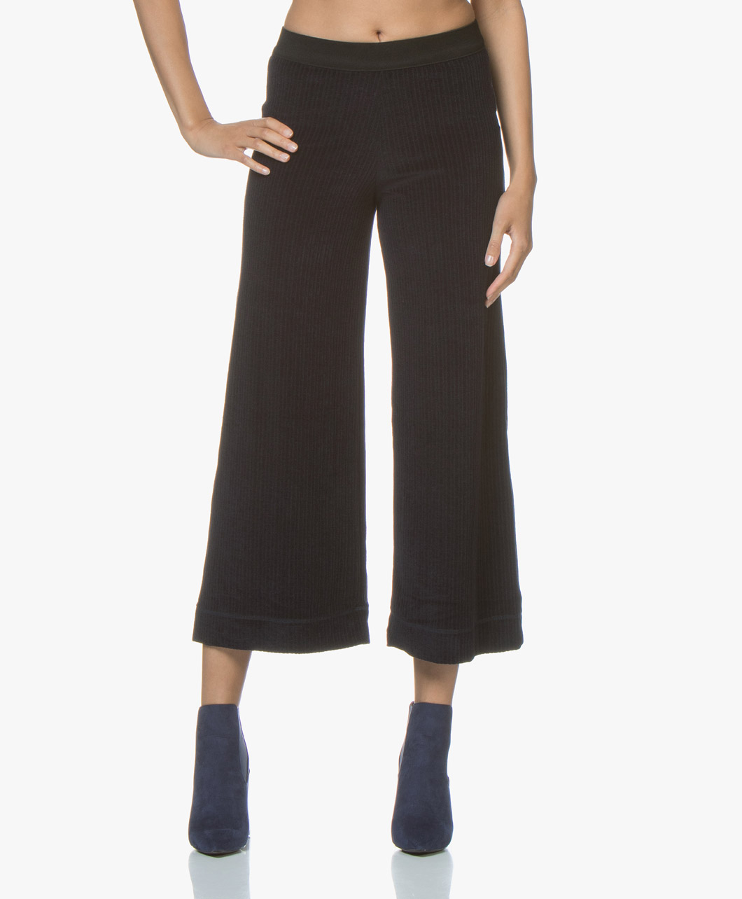 Afbeelding van By Malene Birger Broek Sharion Wolmix Corduroy in Midnight Heaven