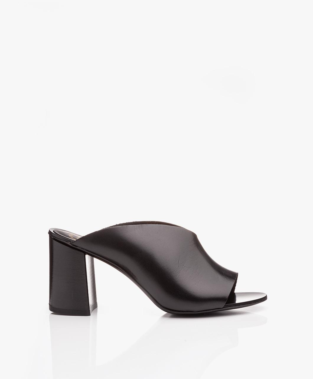 Immagine di ATP Atelier Mules Black Licola Vacchetta Leather Block Heel