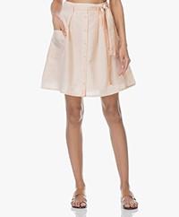 Marie Sixtine Erika Striped Seersucker Skirt - Golden