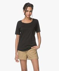 Repeat Jersey Lyocell Mix T-shirt - Black