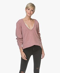 extreme cashmere N°38 Be Low Cashmere V-neck Sweater - Jelly