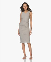 James Perse Side Draped Jersey Jurk - Solitaire