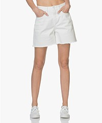 Closed Lucy High Waist Denim Short - White