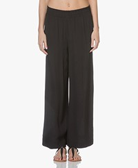 FWSS Next Life Wide Viscose Pants - Jet Black
