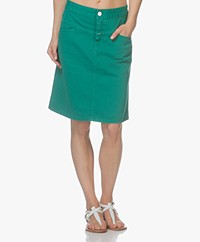 Closed Chris A-lijn Denim Rok - Emerald