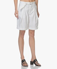 Filippa K Madison Belted Shorts - White