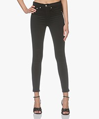 Rag & Bone High Rise Ankle Skinny Jeans - Black