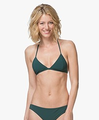 Filippa K Soft Sport Triangle Bikinitop - Emerald