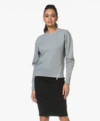 Rag & Bone Marlie French Terry Sweatshirt - Heather Grey