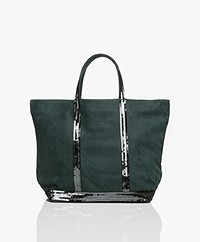 Vanessa Bruno Medium Leren Shopper - Scarabee