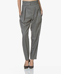 IRO Iliu Paperbag Pants - Grey