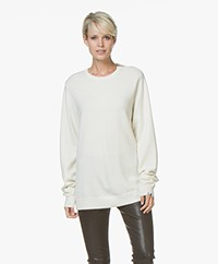 extreme cashmere N°36 Be Classic Round Neck Cashmere Sweater - Cream