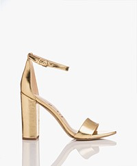 Sam Edelman Yaro Heeled Sandals - Bright Gold