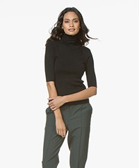 Filippa K Merino Elbow Sleeve Sweater - Black