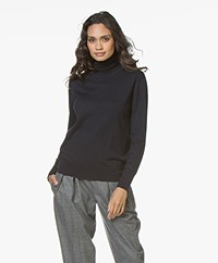 Filippa K Merino Roller Neck Sweater - Navy