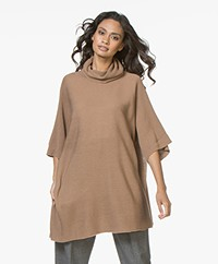 LaSalle Oversized Turtleneck in Wool Blend - Fango