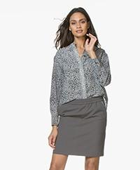 Rag & Bone Christie Silk Shirt - Black Multi