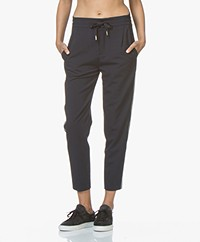 Drykorn Level Loose-fit Cropped Pants - Dark Blue