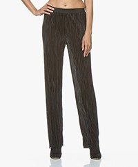 LaSalle Wide Pleated Pants - Black