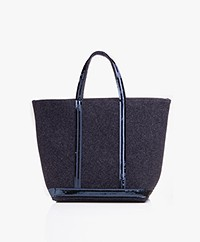 Vanessa Bruno Medium Shopper in Vilt - Denim