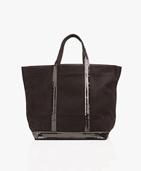 Vanessa Bruno Medium Leather Shopper - Black