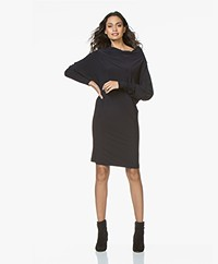 Norma Kamali All-in One Travel Jersey Jurk - Midnight