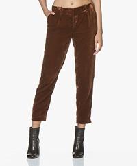 MKT Studio Parcoeur Velvet Pants - Rust
