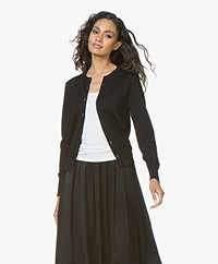 Filippa K Merino Short Cardigan - Black
