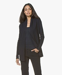 LaSalle Open Milano Cardigan from Soy Beans - Navy