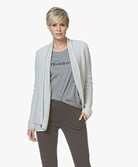 Belluna Collin Moss Knit Cardigan with Shawl Collar - Light Ash