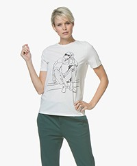 BOSS Tedrawing Print T-shirt - Open White
