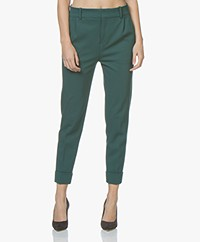 Drykorn Emom Ponte Jersey Cropped Pants - Bottle Green