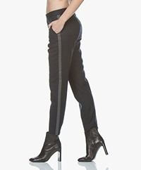 Closed Jack Wool Blend Side Stripe Pants - Dark Night