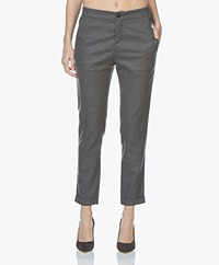BOSS Sasizy Wool Blend Pants - Charcoal