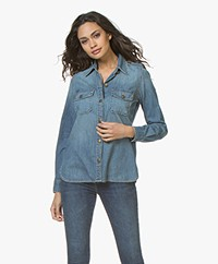 Current/Elliott The Perfect Shirt in Denim - Miner